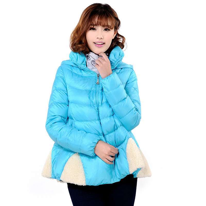2013新款冰洁羽绒服女韩版a裙摆裙摆时尚修身中长款最贵木化石原石图片图片