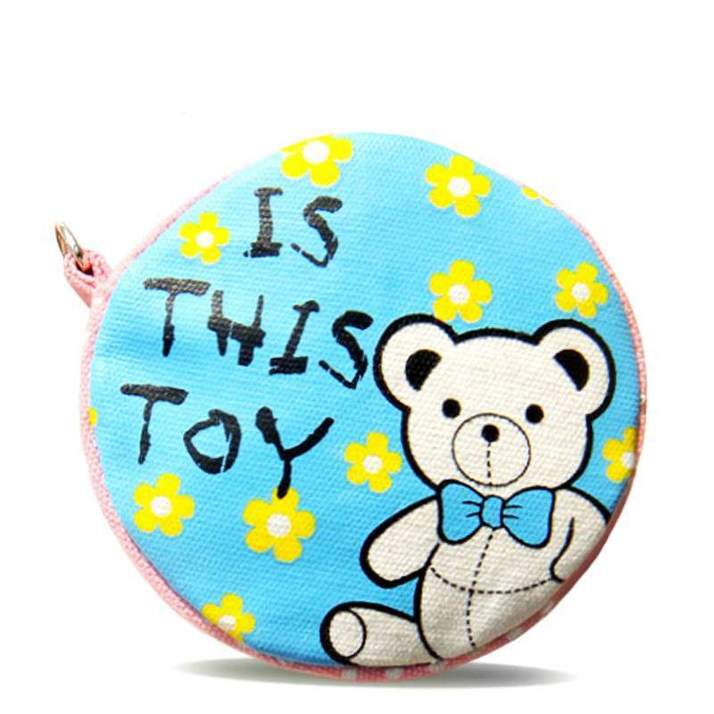 花间公主 大钮扣系列之二可爱熊创意钱包随身包 花色 (商品编号