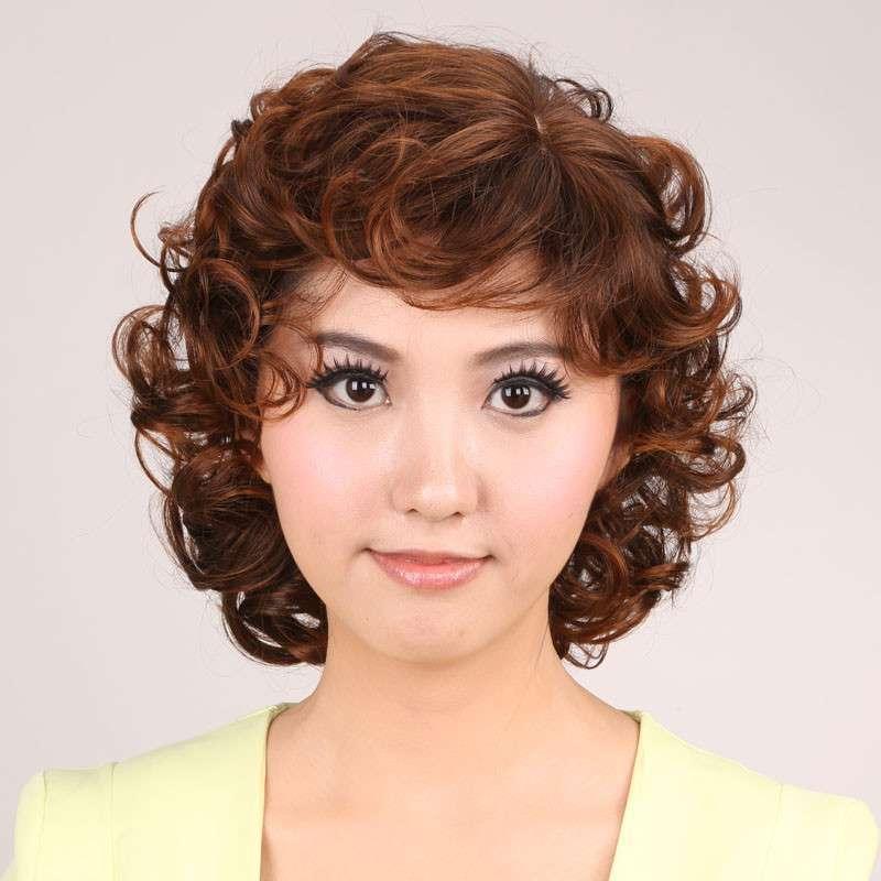 娇滴假发 短发 女 蛋卷 bobo发型 修脸 女生时尚假发短卷发高温丝 s-0