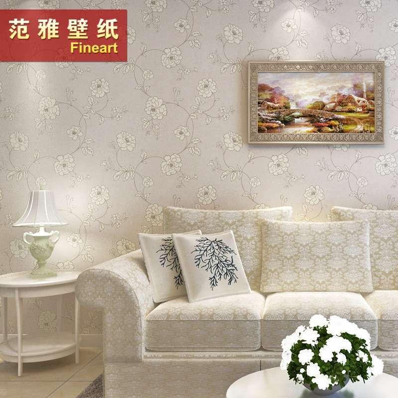 范雅壁纸无纺纸壁纸卧室客厅电视背景墙纸欧式温馨5d