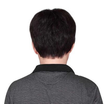 假发高档手织真发 商务男士发型-苏宁电器网上商城