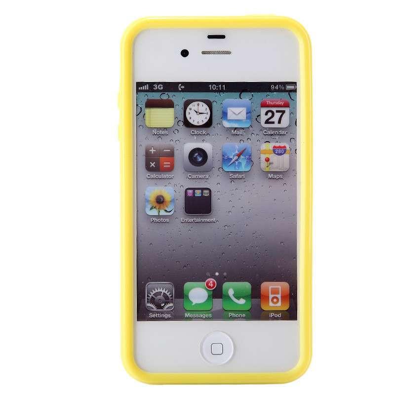 苹果iphone4s手机壳 苹果4s手机套 苹果4边框套硅胶 新款保护壳.