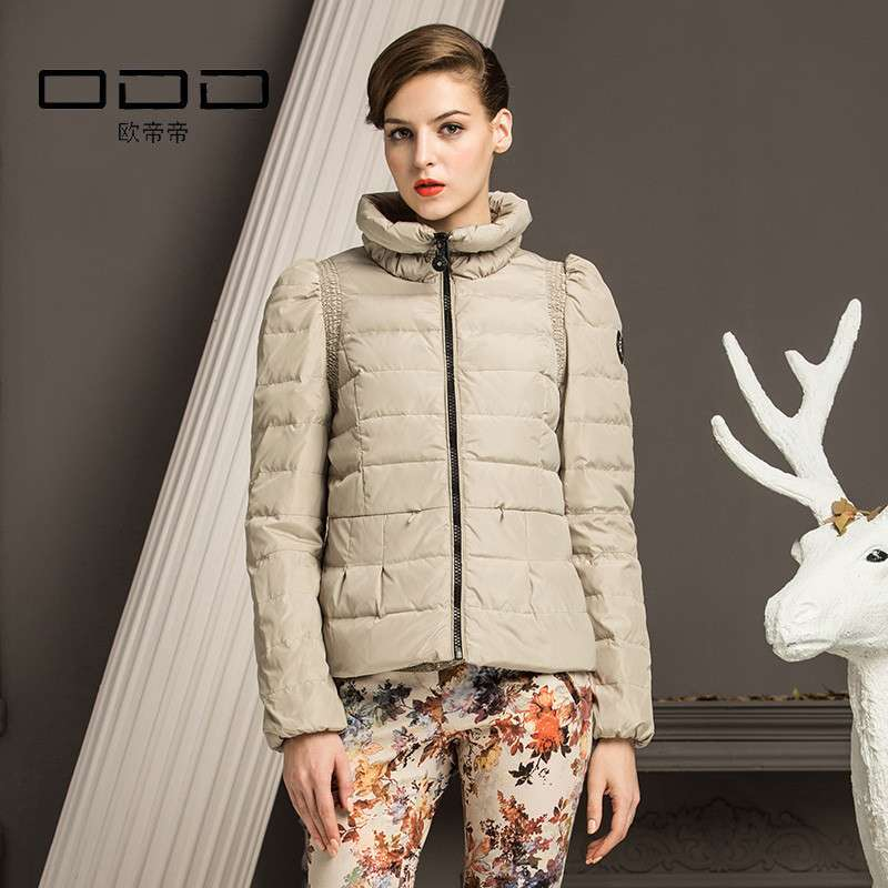 odd欧帝帝 冬装新款加厚 正品 短款羽绒服女 范冰冰同款 o241263 沙盘