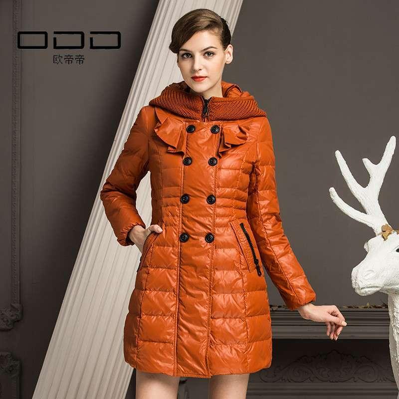 odd欧帝帝2013冬装新款 淑女时尚长款羽绒服 范冰冰同款 o242084 优.