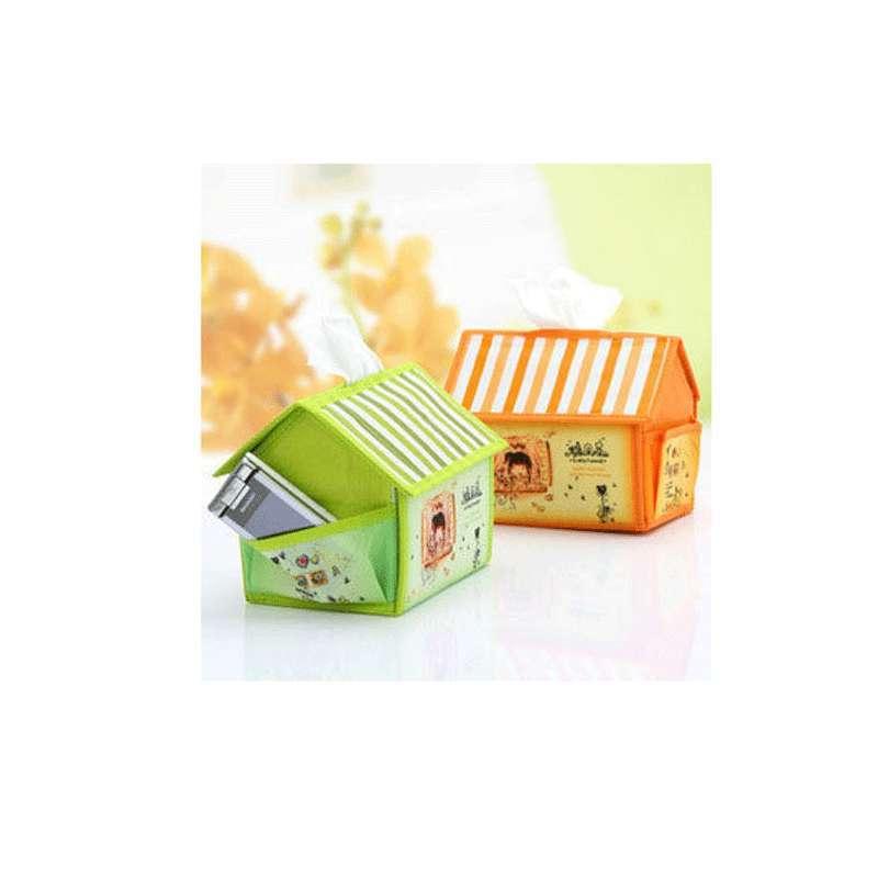 创意糖果色纸布艺小房子纸巾抽 纸巾盒纸巾筒纸巾套抽
