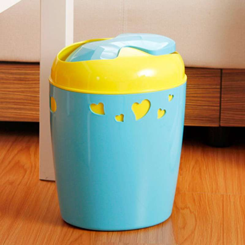 家用有盖垃圾桶摇盖客厅塑料垃圾筒厨房卫生间