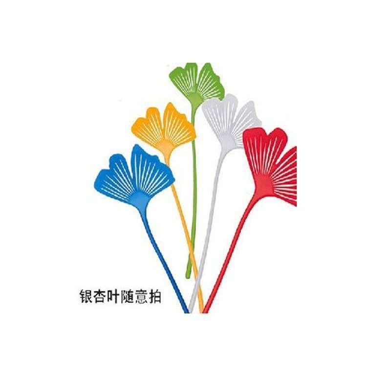 淘乐士日式创意家居艺术银杏花造型灭苍蝇拍塑料蚊虫拍可装点居室 8个