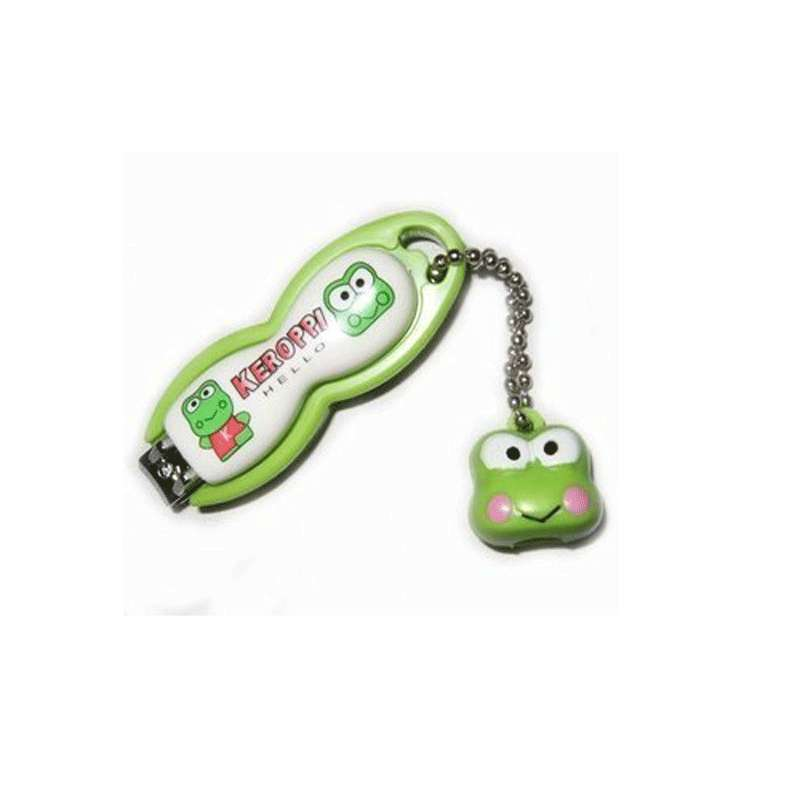 淘乐士创意可爱青蛙甲钳指甲刀指甲剪带装饰链挂饰老人小孩宝宝用 3个