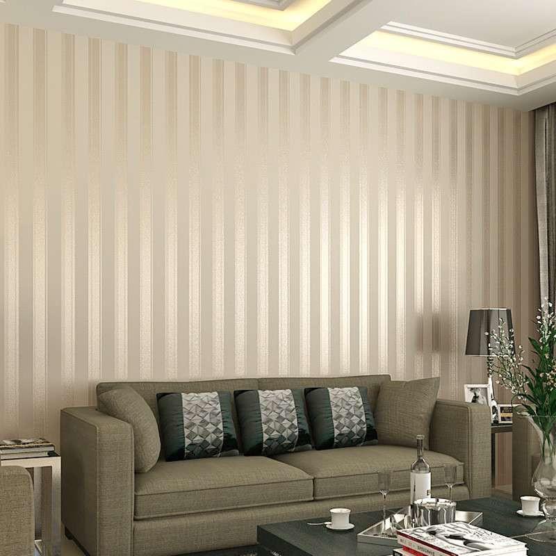 t卧室墙纸现代简约竖条纹