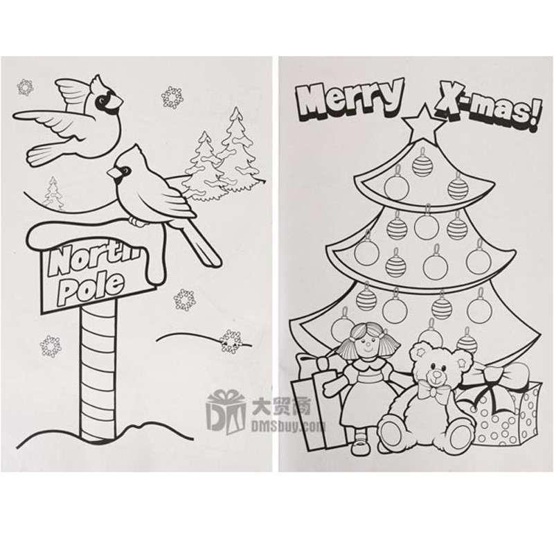 圣诞雪人简笔画彩色