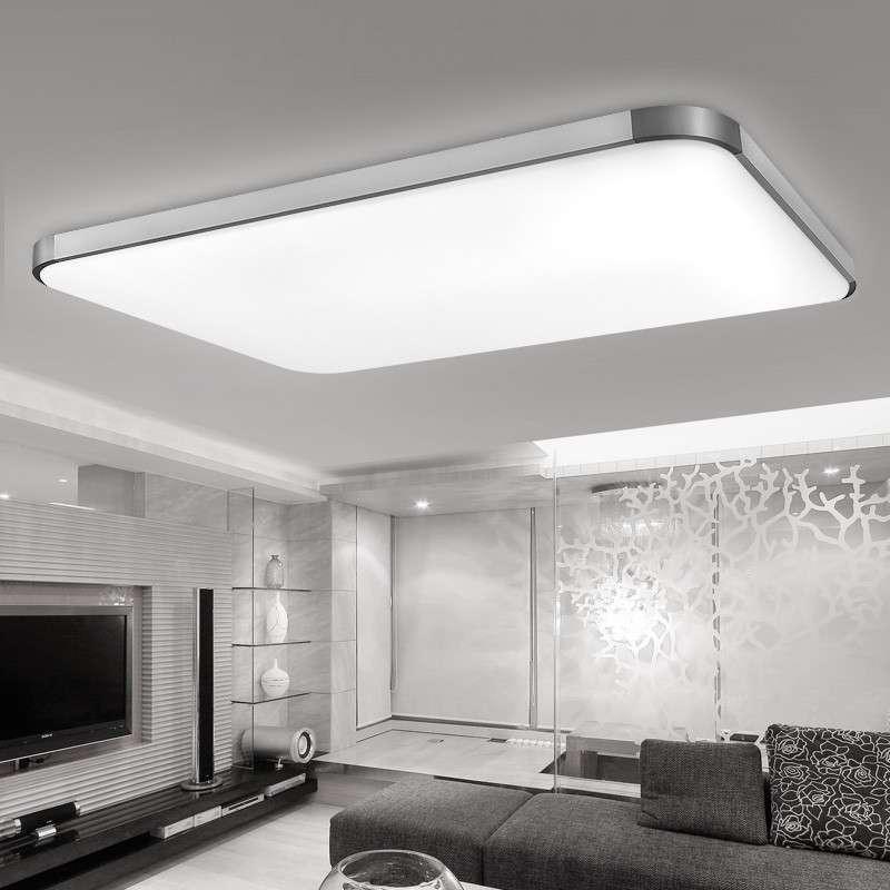 耐特森 led吸顶灯客厅灯具 超薄现代简约亚克力/智能遥控 三色转换 长图片