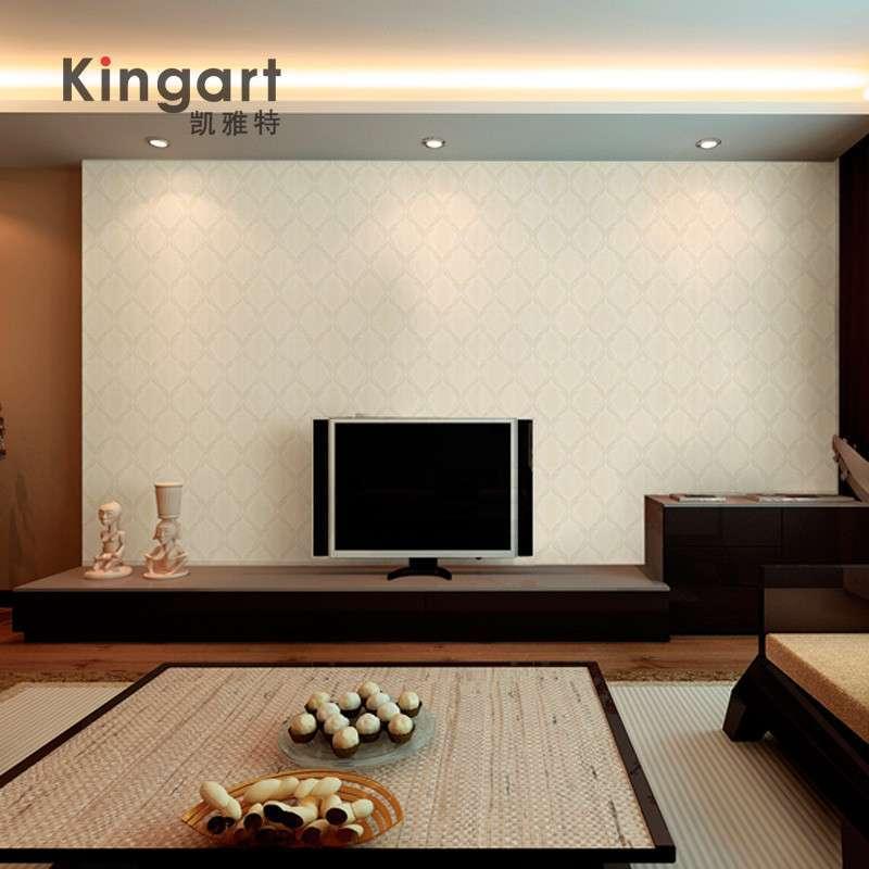 墙纸简欧大马士革客厅卧室电视背景墙满铺简约-苏宁