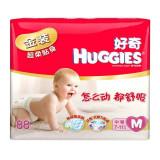 Huggies好奇金装超柔贴身纸尿裤中号M88片(适合7-11公斤)