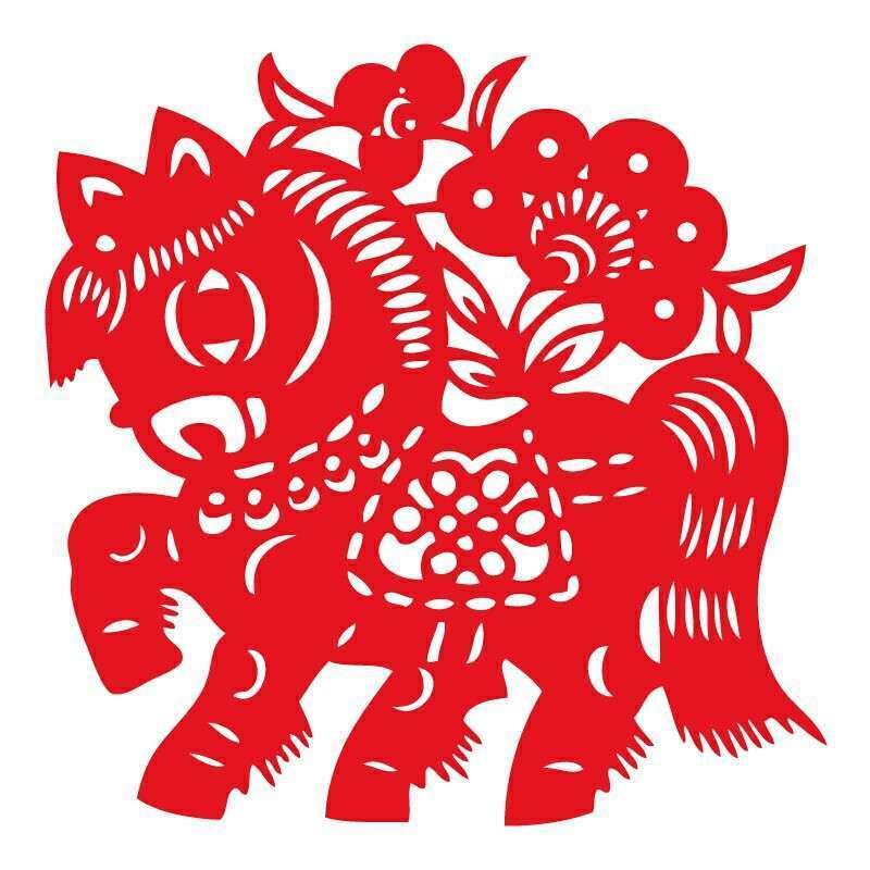 个性一百 走马观花ebg1801春节窗花剪纸不干胶门贴装饰福字新春年画