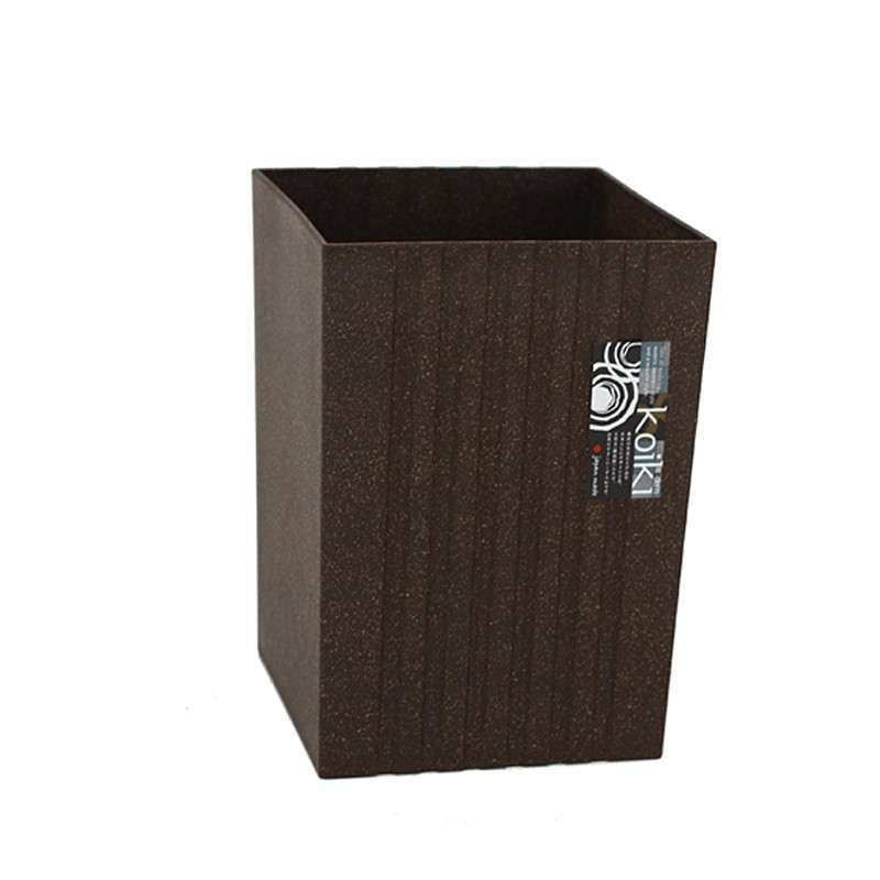 日本进口 koiki仿石质方形塑料垃圾桶4.5l 14480/14481/14482