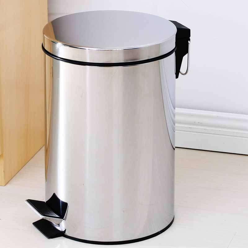 creatwo不锈钢垃圾桶 5l容量踩踏式垃圾桶