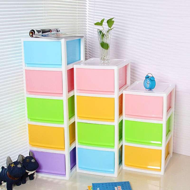 大号彩色塑料抽屉柜抽屉式收纳柜整理柜儿童储物柜子置物衣柜箱子