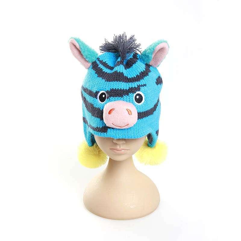 qyli清一丽冬季男女童动物造型保暖护耳小孩帽子 可爱