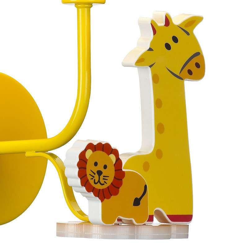 狮子长颈鹿简约儿童卡通布艺壁灯