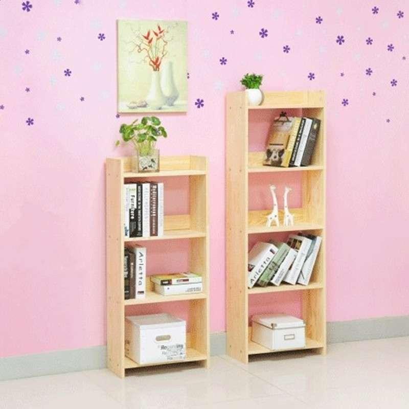 儿童实木书架置物架子简易小型书架组合创意
