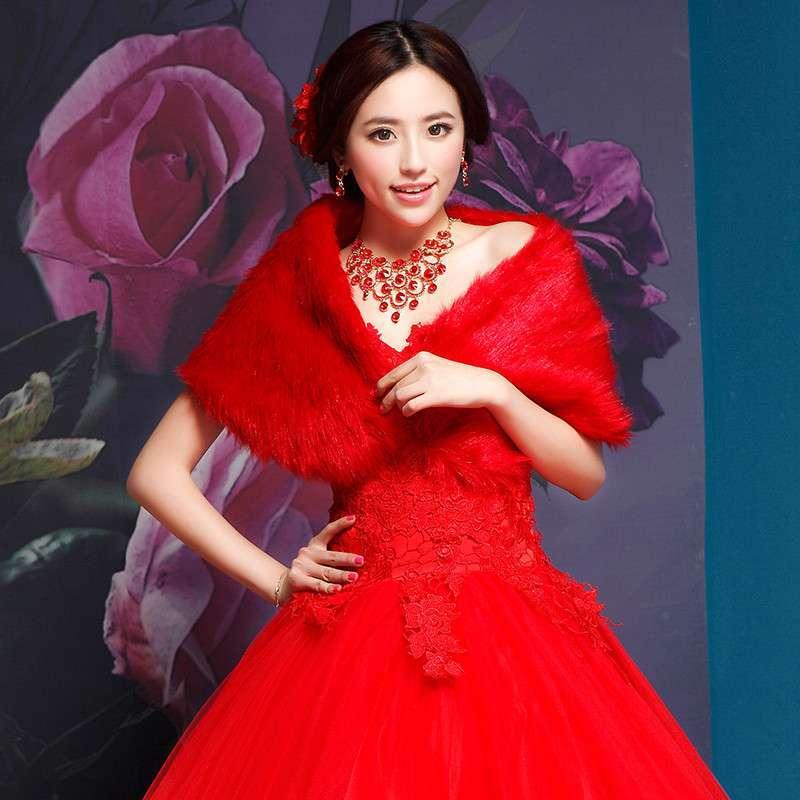 忆红妆 大红色婚纱礼服2014新款拖尾 新娘结婚齐地孕妇高腰春季新款