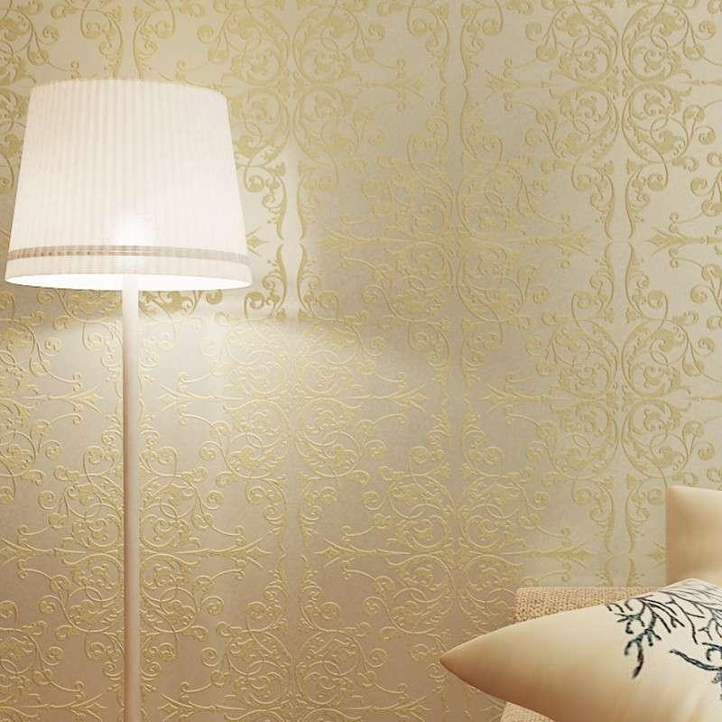 菱形大花墙纸欧式无纺布大马士革卧室房间个性壁纸特价欧派壁纸图片