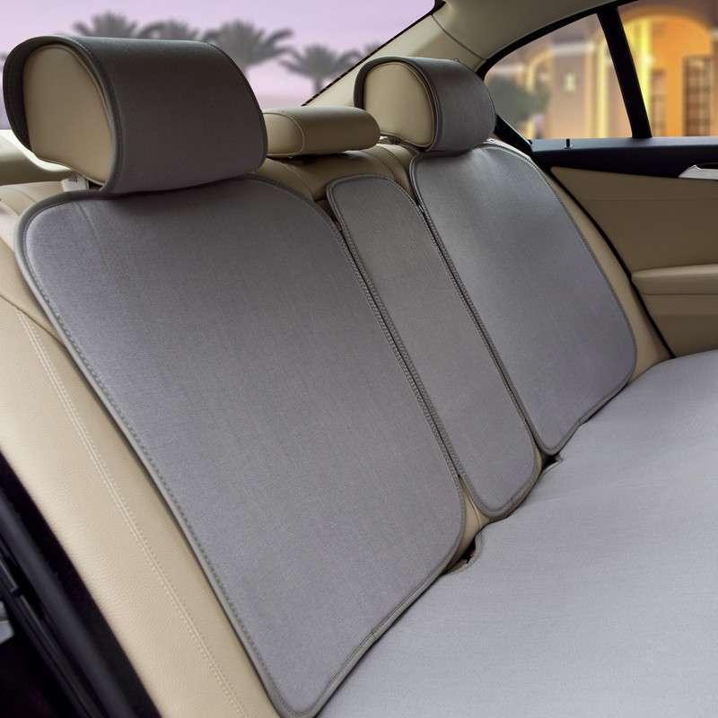 牧宝汽车坐垫/座垫 健康亚麻新款通用 超薄免绑四季垫 msj1305 灰色