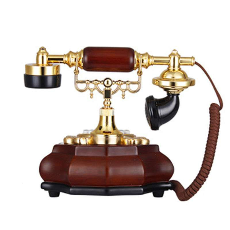 老式古典话机木制仿古电话图片