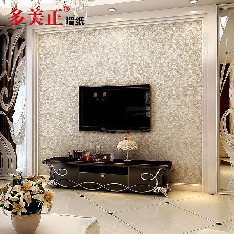 多美正欧式壁纸 无纺布墙纸简约现代环保