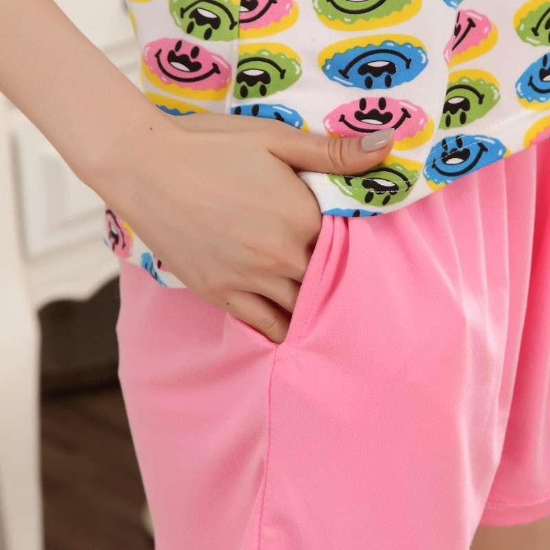 序柔2014春夏棉质可爱卡通女生背心短裤两件套装睡衣