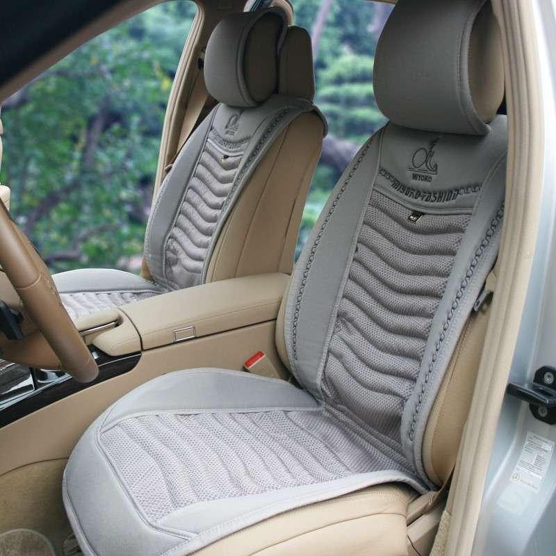美代子 高档汽车坐垫四季通用 夏季夏天新款养生按摩竹炭座垫车垫