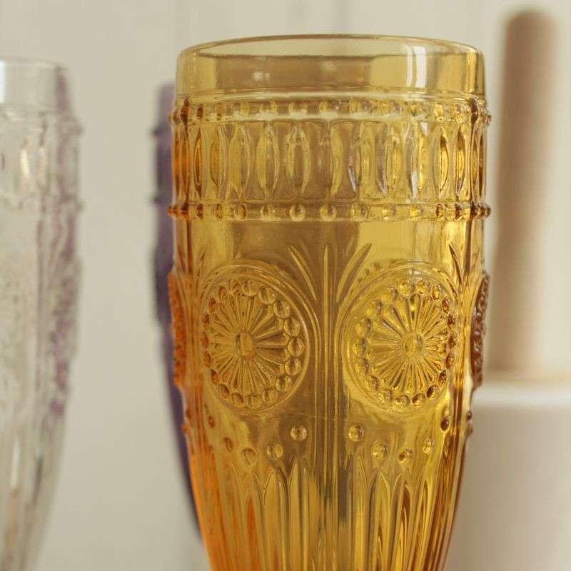 欧式复古雕花红酒杯