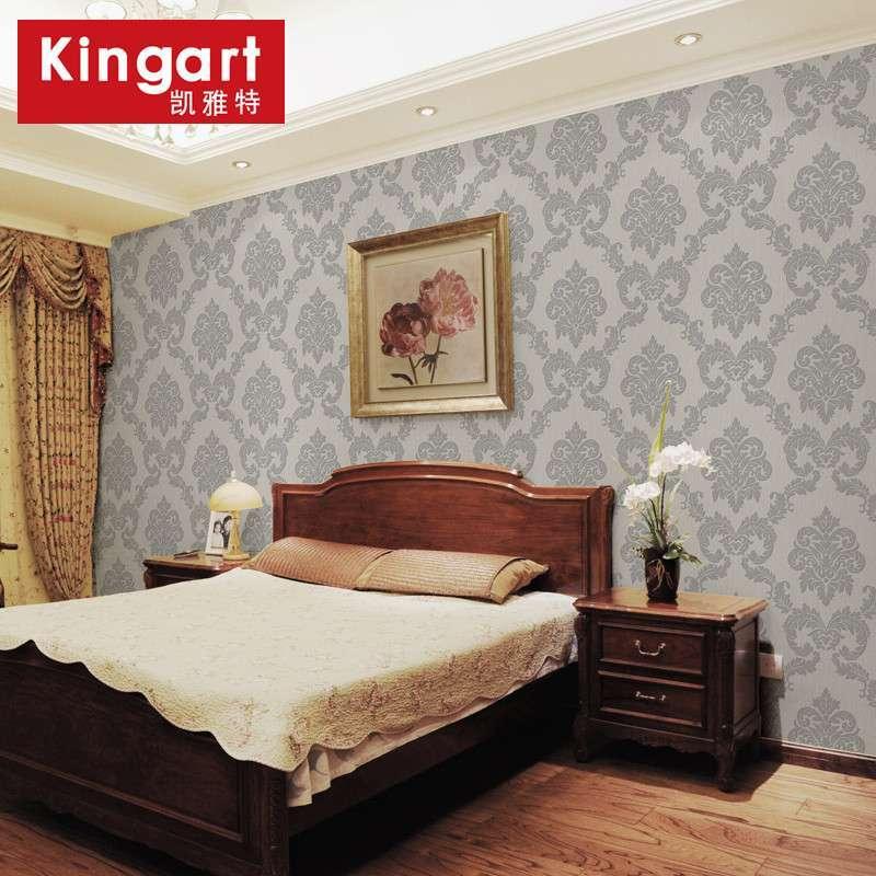 凯雅特壁纸发泡欧式奢华浮雕无纺布除甲醛墙纸卧室