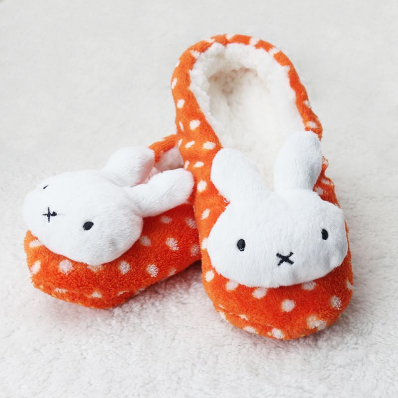 【袜袜屋】袜袜屋冬季女士可爱兔子珊瑚绒保暖加厚