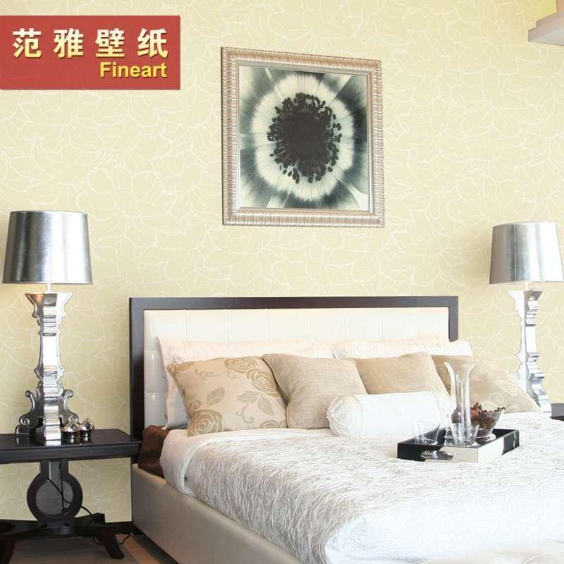 范雅壁纸无纺纸壁纸卧室客厅电视背景墙纸现代简约时尚欧雅6d09