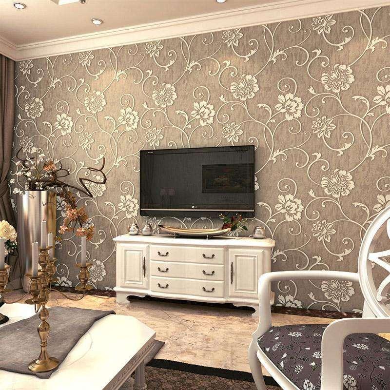 无纺布墙纸卧室壁纸立体3d墙纸欧式温馨客厅电视背景