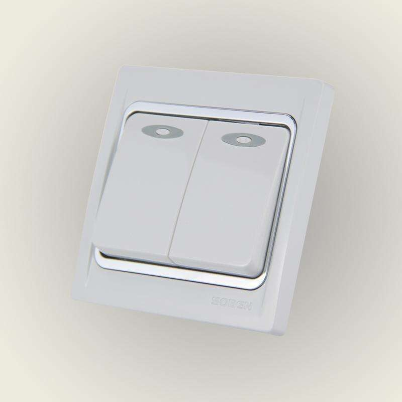 松本开关插座16a二位双控开关面板二开双联墙壁插座