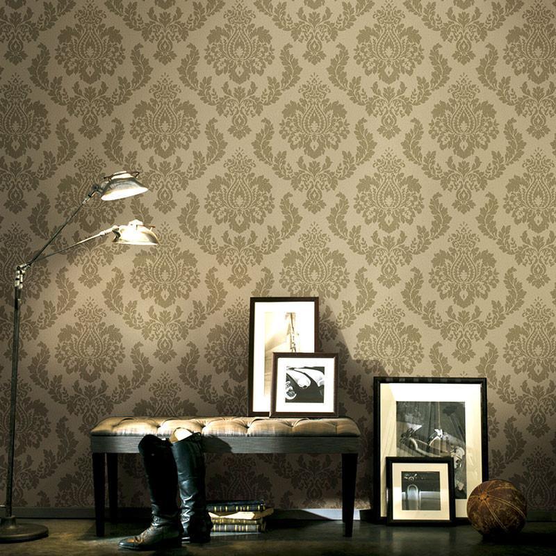 米素欧式复古服装店墙纸