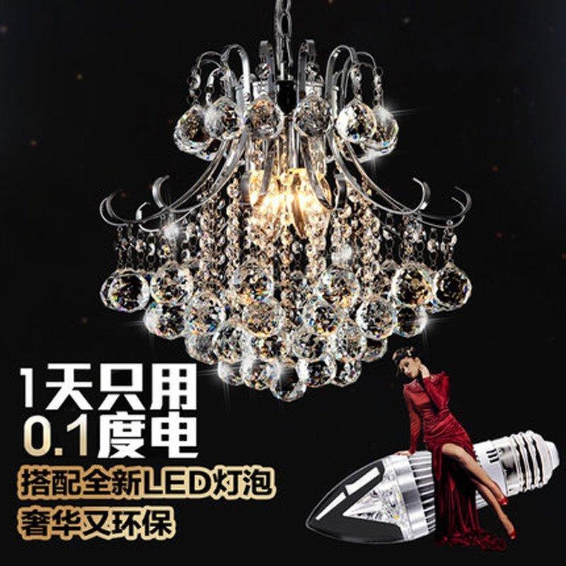 【世源家居】世源水晶灯欧式吊灯卧室灯客厅简约现代