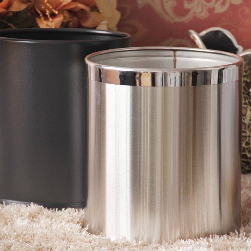 垃圾桶双层金属创意厨房客厅收纳桶ktv办公用时尚