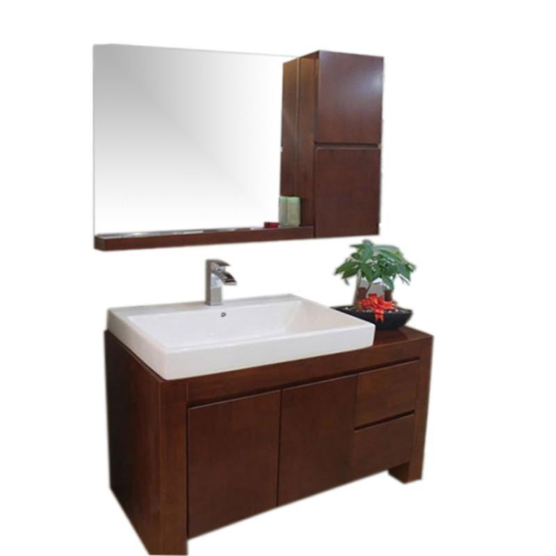 谛唯卫浴 橡木浴室柜,实木卫浴柜套装,落地式洗脸盆柜