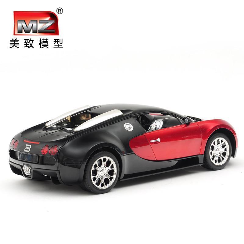美致布加迪威龙方向盘遥控车超大漂移充电儿童玩具车遥控汽车模型红色