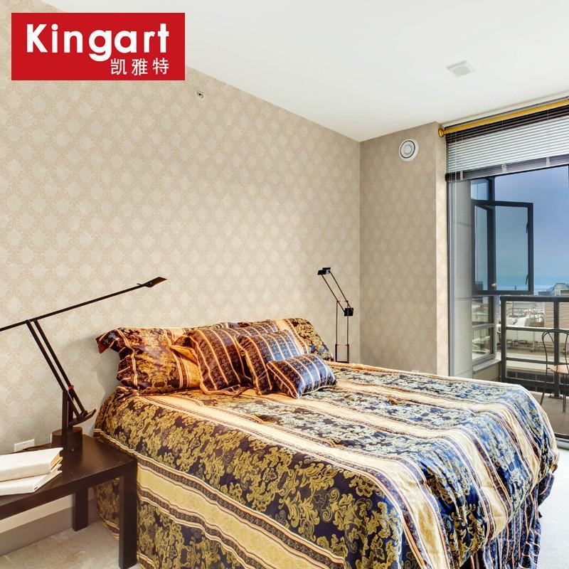 凯雅特壁纸复古简约欧式除甲醛无纺布墙纸欧式客厅墙