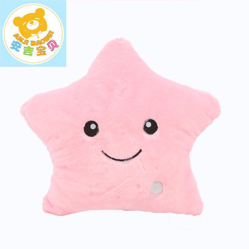 可爱创意会发光的星星抱枕