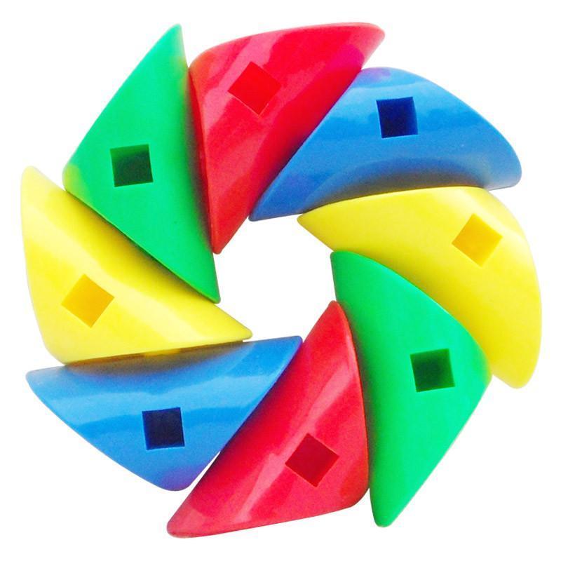 乐婴坊 旋变积木 乐高式智力玩具 塑料管道状拼装玩具