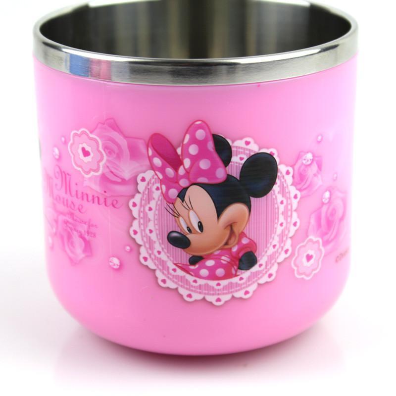 【】迪士尼儿童水杯宝宝喝水杯子不锈钢婴儿水杯卡