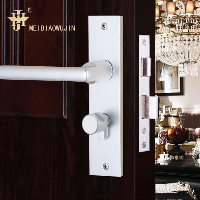欧式简约不锈钢室内门锁防盗门锁卧室门锁木门移门