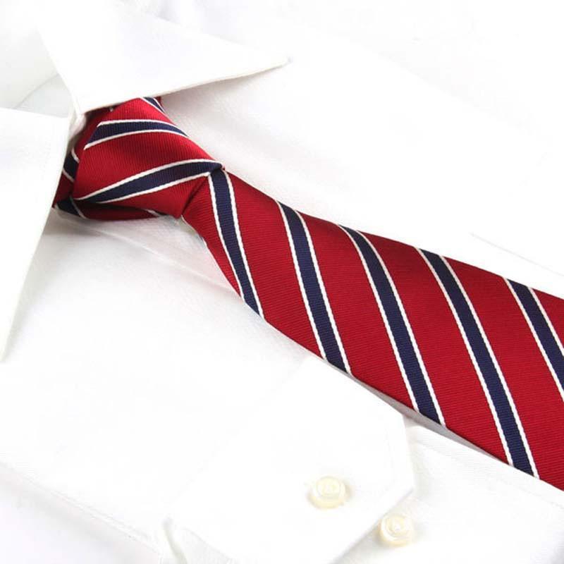 玛诗杜(mskoo)结婚商务红色真丝领带 红蓝条纹mts-9636 红蓝条纹