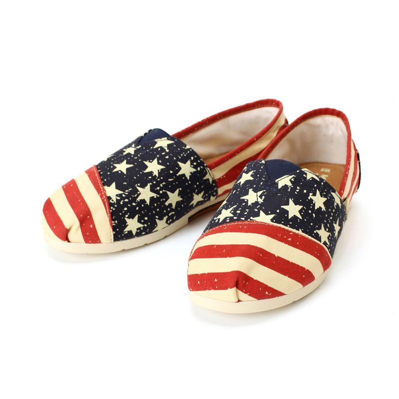 mogimore帆布鞋美国国旗 美国国旗 35码