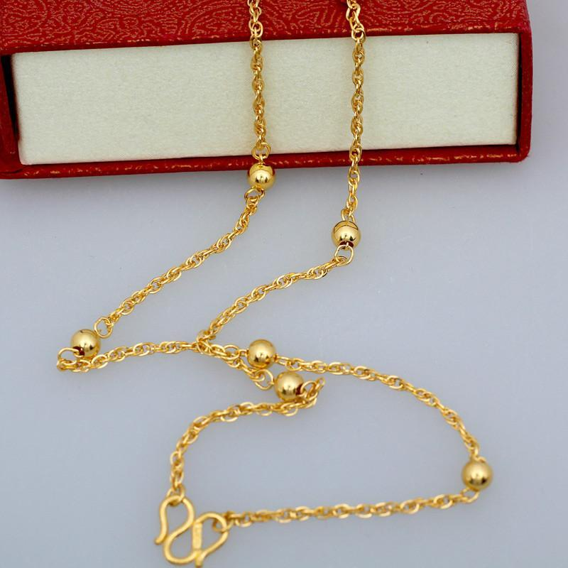 黄金项链图片女款 - 玉坠项链绳编法图解